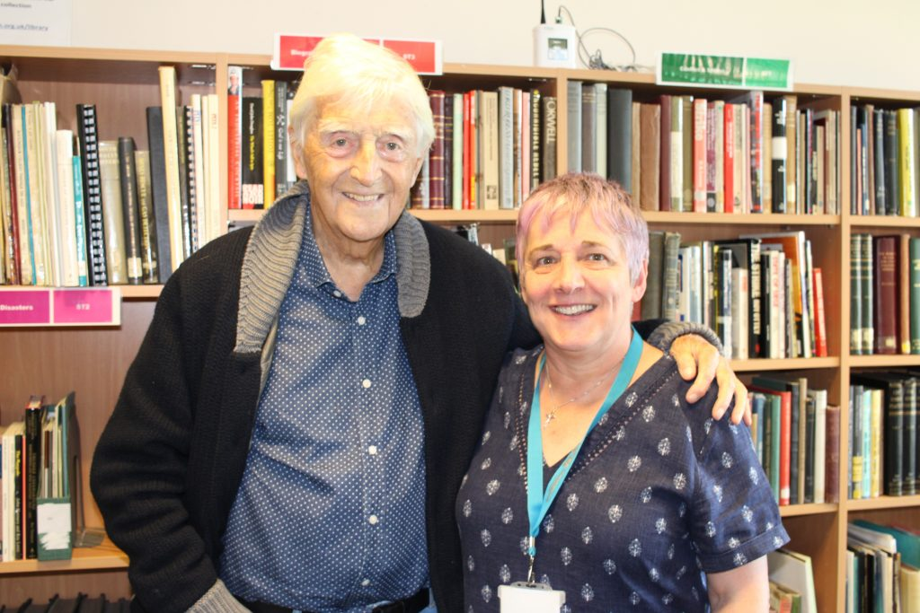 Michael Parkinson visits the library